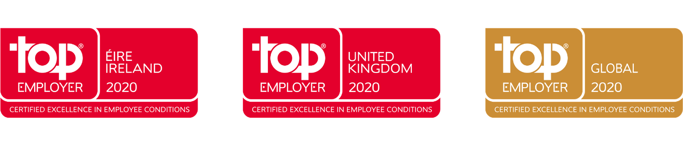 Top Employer 2020 UK, Ireland and Global logos