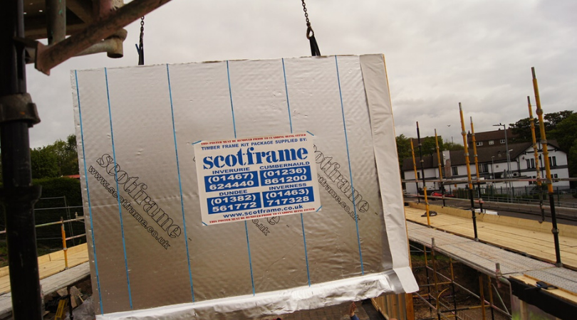 The Scotframe timber frame used to construct the gap homes